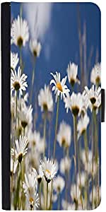 Snoogg Daisies Designer Protective Phone Flip Case Cover For Xiaomi Mi 4