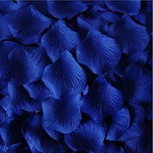 Rosenblüten,3000er Pack Silk Künstliche Blütenblätter für Hochzeit Valentinstag Romantische Kunst Dekoration Konfetti Blau