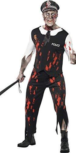 Da uomo zombie poliziotto legge dead poliziotto cadavere costume halloween
