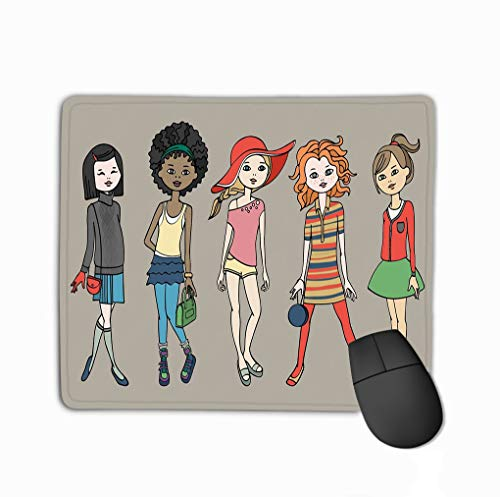 Family Mouse Pad,Standard Size Rectangle Non-Slip