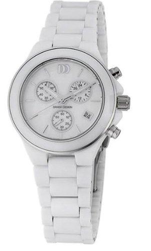 Danish Design Women's 33mm White Ceramic Band Steel Case Sapphire Crystal Quartz Analog Watch IV62Q874