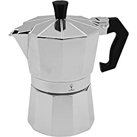 Argon Tableware 3 Cup Italian Style Stove Top Espresso Coffee Percolator. Traditional Design