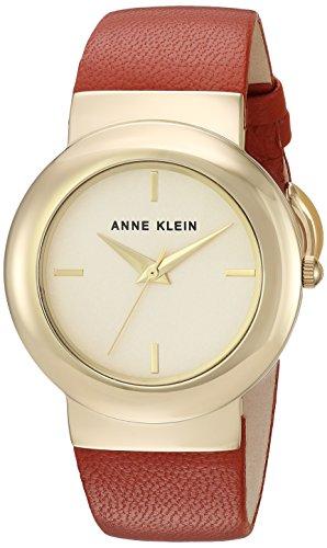 Anne Klein Women's AK-2922CHRU Gold Leather Japanese Quartz Fashion Watch