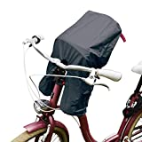 TROCKOLINO Avanti Regenschutz für den Frontsitz Lenker-Fahrradsitz schwarz