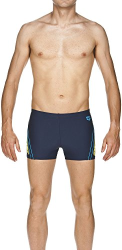 Arena Herren Badehose Bystar navy/Soft green/Turquoise