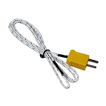 SODIAL(R) Fil thermocouple Capteur de temperature Type K 2 broches plates