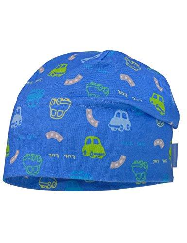 maximo Baby-Jungen Mütze Beanie Autos Jersey, Mehrfarbig (Blaues Azur-Jasmingrün-Autos 85), 45