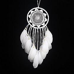 Moda Atrapasueños hecho a mano en India tradicional net con plumas colgante de pared decoración Craft-regalo para pared decoración del coche mejor regalo (varios estilos)