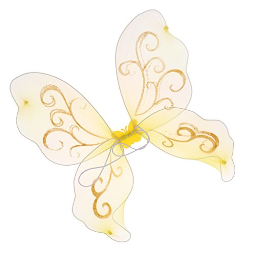 D DOLITY Elegante Elfenflügel Feenflügel Engelflügel Schmetterlingsflügel, für Tanz Show und Festival - ()