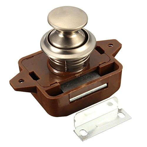 Push Button Verriegelung Keyless-Schrank Lock Catch Schrankknopf Lock-Verriegelung 1Für Wohnmobil-Motor Caravan -