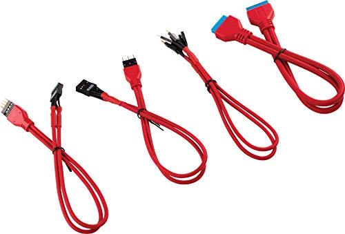 Corsair Premium Sleeved Frontpanel Kabel Verlängerungskit, rot -
