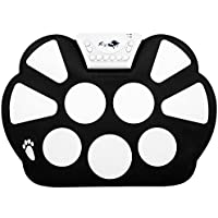 Top Longer portable électronique Instrument de musique Roll Up Drum Pad Kit Silicon pliable avec baguettes, pédale et câble USB–E Kit de Pad pour reconstruits enfants cadeau pour Noël