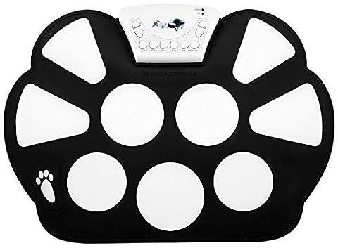 Top-Longer Tragbar Elektronisch Musikinstrument Roll up Drum Pad Kit Silicon Faltbare mit Drum Sticks, Pedale und USB-Kabel - E-Drums-Pad Set Kinder Geschenk für Weihnachten