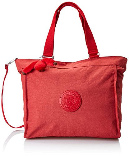 Rot Nylon Tote (Kipling Damen NEW SHOPPER L Tote, Rot (Spicy Red C), 48.5x34x17.5 cm)