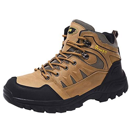 HDUFGJ rutschfeste Trekkingschuhe Wanderschuhe Herren Wasserdicht Outdoor Schuhe für Sport Hiking Trekking- & Wanderstiefel Plus Samt Warm Sneaker Wanderschuhe40 EU(Khaki)