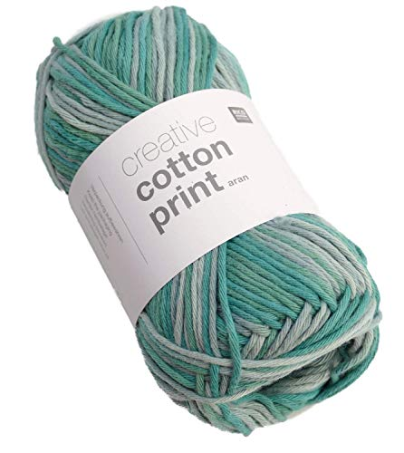 Rico Creative Cotton Print Aran FB. 37 Fil Coton à Crochet Coton Coton