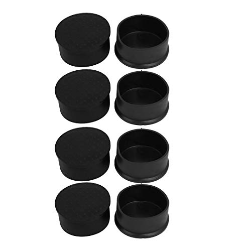 ZCHXD 8pcs 63mm Dia Black PVC Rubber Round Cabinet Leg Insert Cover Protector - Cabinet Cover