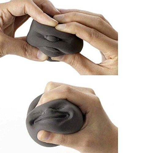 Vent-stress-ball (LCLrute Hot Selling Humorvolles Gesicht Top Anti-Stress Helper Stress Druck Relief Vent Ball Schwarz)