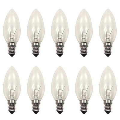 10 x Osram Kerzenlampe Glühbirne Classic B CL E14 25Watt klar von Osram bei Lampenhans.de