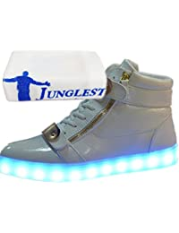 [Present:kleines Handtuch]Weiß EU 39, Wechseln Freizeitschuhe Damen JUNGLEST® und Farbe für USB LED-Licht Mode 7 Outdoorschuhe Leuchtend Herren Sportschuhe Schuhe Sneaker K