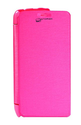 Flip Cover For Micromax Canvas Juice A77 (Pink)  available at amazon for Rs.173