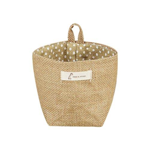 Doitsa Tuch Beutel Blumentöpfe Lagerung mit Haken Pflanzkübel Hängender Korb, Multifunktion Lagerung Korb für Kleidung Zubehör A (Hängende Lagerung-körbe)