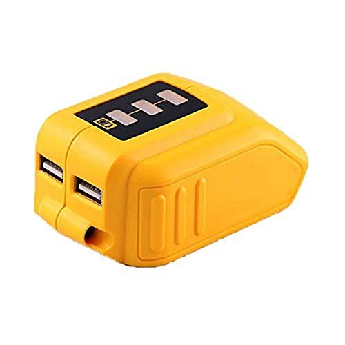 getherad Premium Konverter, USB Power Source Adapter Für Dewalt, Konverter 10.8V-20V Adapter Mit LED Leuchtanzeige, Konverter Für DEWALT Slide Style Akkus. - 20 Volt Usb Dewalt