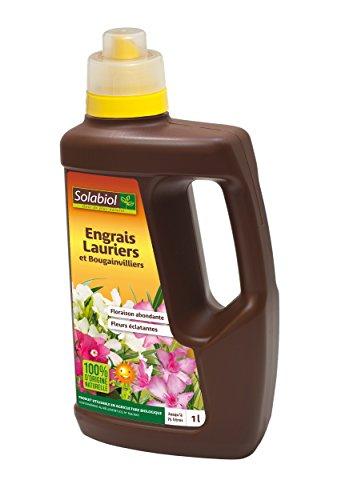 Solabiol SOLILAUR1N Engrais Lauriers et Bougainvilliers Liquide Marron, 1 L