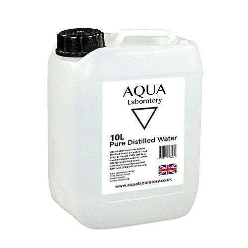 Acqua distillata a vapore pura (10 litri in un contenitore e tappo anti-manomissione)