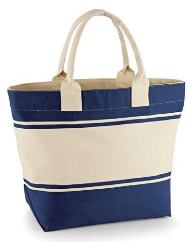 Quadra Stoff Deck Tasche - Marineblau/Natürlich Marineblau/Natürlich
