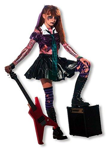 e Punk Rocker M 128-140 (Punk Rock Zombie Kostüm)