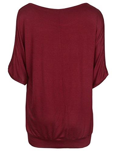 ISASSY Damen Relaxed T-Shirt Grün grün Medium Vin Rouge