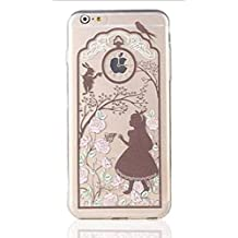 Phone Kandy® Guardia claro transparente de la princesa caja y la pantalla carcasa funda (iPhone 5 5s SE, Alice)
