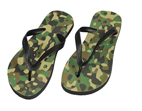 Flip Flops Camouflage, Tarnfarbe Schuhe / Slipper Badeschuhe Flip-Flop Badelatschen Badeschlappen Sandale Zehentrenner, Gr. 40-42