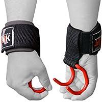 kikfit Gewichtheben Training Gym Haken Grips Straps Handschuhe Handgelenkstütze Lift (Kostenloser UK Versand) preisvergleich bei billige-tabletten.eu