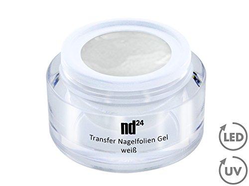 Nail Art - Transfert Nail Foils gel blanc