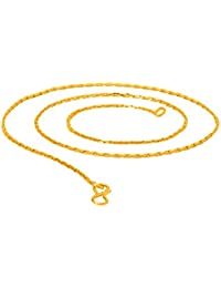 Voylla Glittery Yellow Gold Plated Chain