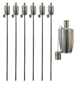 Garden Fire Torch - Oil / Paraffin Lantern - 1460mm Barrel Design - Pack of 6 from Harbour Housewares