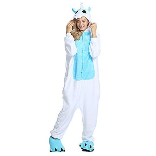 aeee0c6d Rainbow Fox Adultos Unicornio pijama con alas Cosplay disfraz Animal ...