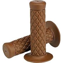 "Biltwell Thruster de Goma Empuñaduras de Manillar Puños para 22mm (7/8"") - Marrón Chocolate"