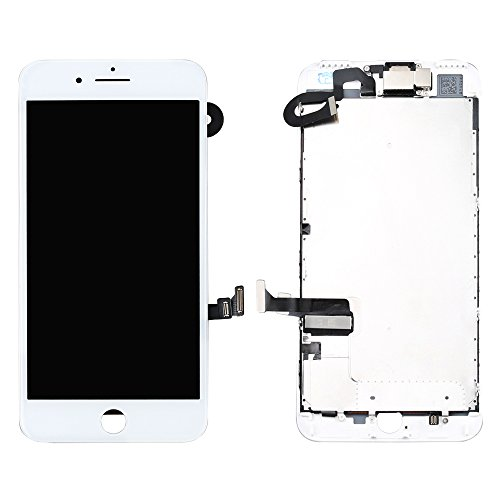 LL TRADER Ersatzbildschirm für iPhone 7 Plus (5.5 inches) Weiß LCD-Touchscreen-Display Digitales-Glasobjektiv Reparaturset (mit Werkzeug,Frontkamera,Näherungssensor) Plus Digital Display