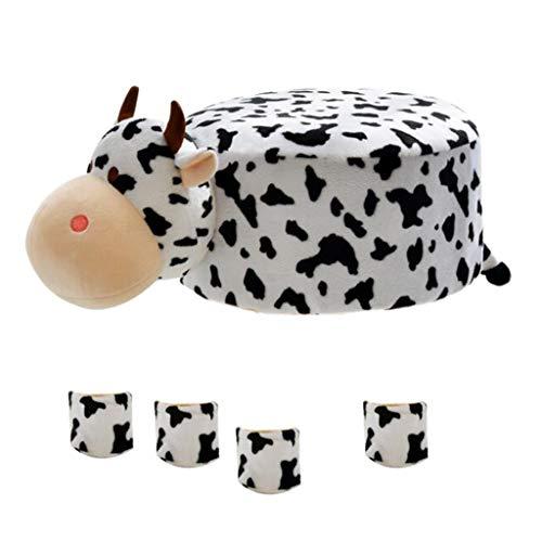 D DOLITY Süßes Tiere Stuhlhussen Stuhlüberzug Stuhlbezug Abdeckung für Stuhl Hocker - Kuh - Kuh-stuhl