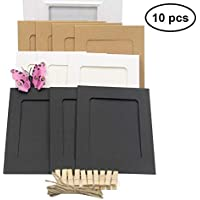 WINOMO Marco de foto de papel Decoración de pared con cuerda y clip Bordes de decoración