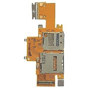 Ersatzteile, iPartsBuy SIM-Karte und SD-Kartenleser Kontakt Flexkabel für Sony Xperia Tablet Z / SGP311 / SGP312 / SGP321
