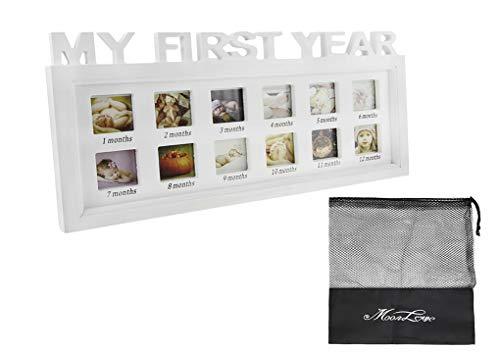 Marco fotos, marco fotos primer año bebé fotos múltiples