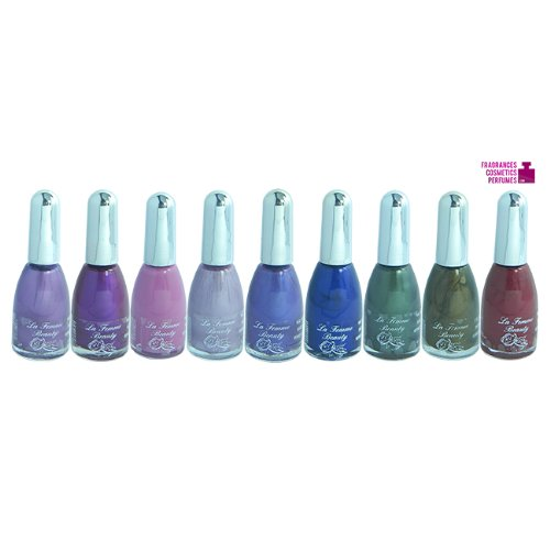 La Femme Lot de 9 vernis à ongles Couleurs assorties