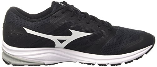 Mizuno Synchro MD, Chaussures de Running Homme, Noir Multicolore (Black/white/griffin)
