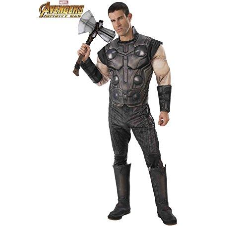 Deluxe Kostüm Adult Thor - Rubie's Thor-Kostüm für Herren Avengers Infinity War grau XL