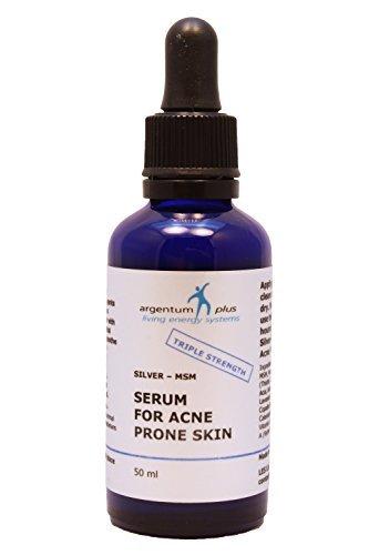 Wesentlicher Schutz Für Die Haut (Silber-MSM Akne Serum Dreifach Stark 50 m Pipettenflasche)