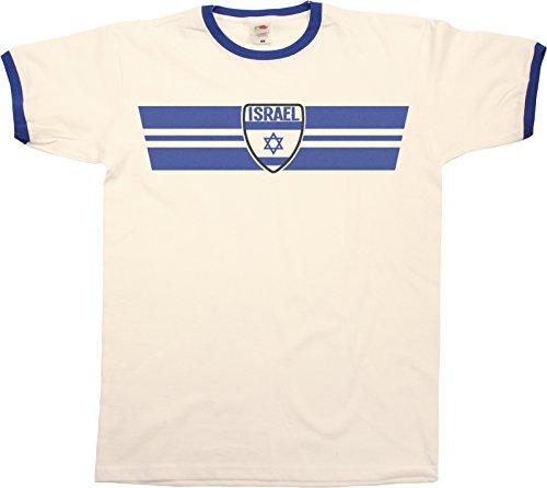 Mens Israel Retro Strip Patriotic Ringer Herren T-Shirt -